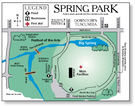 Map of Spring Park